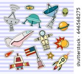 space patch badges. vector... | Shutterstock .eps vector #646568275
