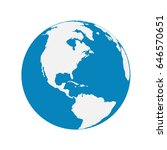 vector globe icon of the world | Shutterstock .eps vector #646570651