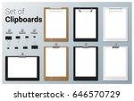 set of realistic clipboards  ... | Shutterstock .eps vector #646570729
