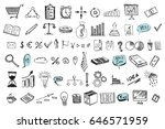 hand drawn business symbols  | Shutterstock .eps vector #646571959