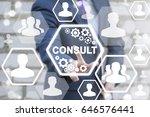 consult business social network ... | Shutterstock . vector #646576441