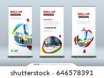 business roll up banner stand.... | Shutterstock .eps vector #646578391
