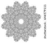 adult coloring book page. black ... | Shutterstock .eps vector #646579111