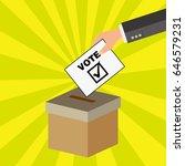 put the vote into the ballot box   Shutterstock .eps vector #646579231