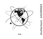 earth and satellites orbits.... | Shutterstock .eps vector #646580065