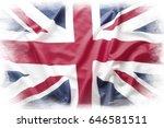 union jack flag on plain... | Shutterstock . vector #646581511