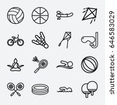 activity icon. set of 16... | Shutterstock .eps vector #646583029