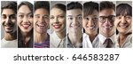 smiling people from different... | Shutterstock . vector #646583287