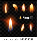 vector realistic candle fire ... | Shutterstock .eps vector #646585654