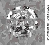love is in the air on grey camo ...   Shutterstock .eps vector #646586221