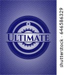 ultimate emblem with denim high ... | Shutterstock .eps vector #646586329