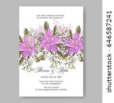 wedding invitation floral... | Shutterstock .eps vector #646587241