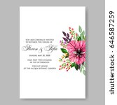 wedding invitation floral... | Shutterstock .eps vector #646587259