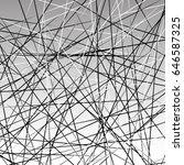 random chaotic lines texture.... | Shutterstock .eps vector #646587325