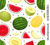vector seamless pattern with... | Shutterstock .eps vector #646588081