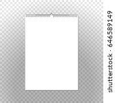 calendar binder mockup vertical ...   Shutterstock .eps vector #646589149