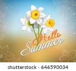 vector hello summer lettering...