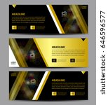 gold and black banner template... | Shutterstock .eps vector #646596577