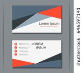 abstract style visiting card... | Shutterstock .eps vector #646597141