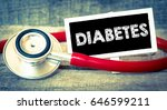 medecine concept. blackboard... | Shutterstock . vector #646599211