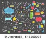 set of cartoon web elements ...   Shutterstock .eps vector #646600039