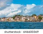 lamu old town waterfront  kenya ... | Shutterstock . vector #646600369