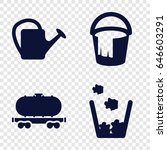 container icons set. set of 4...   Shutterstock .eps vector #646603291