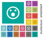 shocked emoticon multi colored... | Shutterstock .eps vector #646603669
