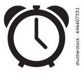 alarm clock icon vector | Shutterstock .eps vector #646607551