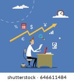 business apps concept. online... | Shutterstock .eps vector #646611484
