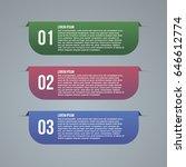 three steps info graphic | Shutterstock .eps vector #646612774