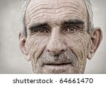 elderly  old  mature man close... | Shutterstock . vector #64661470