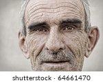 elderly  old  mature man close... | Shutterstock . vector #64661470
