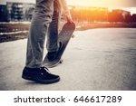 man is going to skateboarding... | Shutterstock . vector #646617289