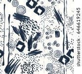 seamless hand drawn pattern  ... | Shutterstock .eps vector #646619245
