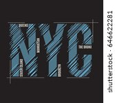 new york tee print. t shirt... | Shutterstock .eps vector #646622281