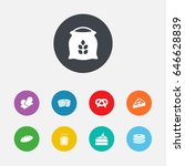 set of 9  icons set.collection...   Shutterstock .eps vector #646628839