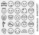 cheerful icons set. set of 25... | Shutterstock .eps vector #646631857