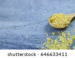 nutritional yeast on wooden... | Shutterstock . vector #646633411