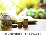 money saving to study for... | Shutterstock . vector #646641364