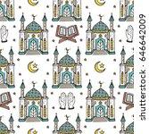 islamic symbol background.... | Shutterstock .eps vector #646642009