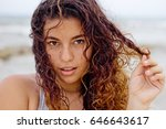 middle shot portrait of young... | Shutterstock . vector #646643617