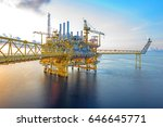 offshore oil and gas rig... | Shutterstock . vector #646645771