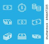 tax icons set. set of 9 tax... | Shutterstock .eps vector #646647205