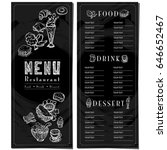 menu food cafe template design... | Shutterstock .eps vector #646652467