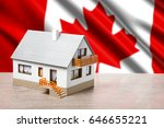 classic house against canada... | Shutterstock . vector #646655221