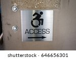 Small photo of Handicap Access Sign