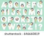 set of various poses of yellow...   Shutterstock .eps vector #646660819