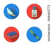 ski  sled  lifeguard badge ... | Shutterstock .eps vector #646663771