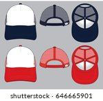 cap template  | Shutterstock .eps vector #646665901
